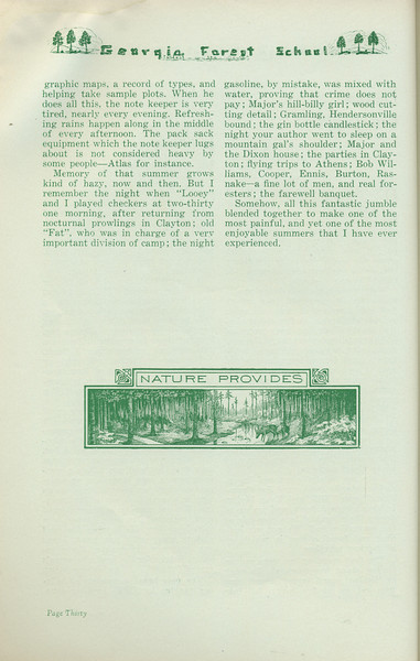 """The Cypress Knee, 1935, """"Collegian Conservationists"""" (continued), J. B. Fisher, pg. 30"""