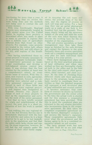 """The Cypress Knee, 1935, """"Controlling Erosion"""" (continued), H. C. Hebb, pg. 41"""