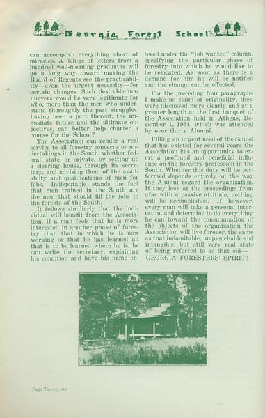 "The Cypress Knee, 1935, ""Alumni Association of the Forest School"" (continued), Harold L. Grogan, pg. 26"