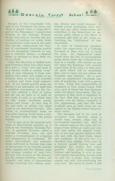 """The Cypress Knee, 1935, """"Timber Stand Improvement"""" (continued), J. W. Cooper, pg. 43"""