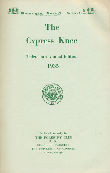 The Cypress Knee, 1935, Title Page, pg. 7