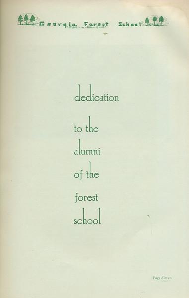 The Cypress Knee, 1935, Dedication, pg. 11