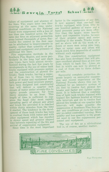 """The Cypress Knee, 1935, """"Controlled Burning- If Any"""" (continued), E. W. Hadley, pg. 39"""