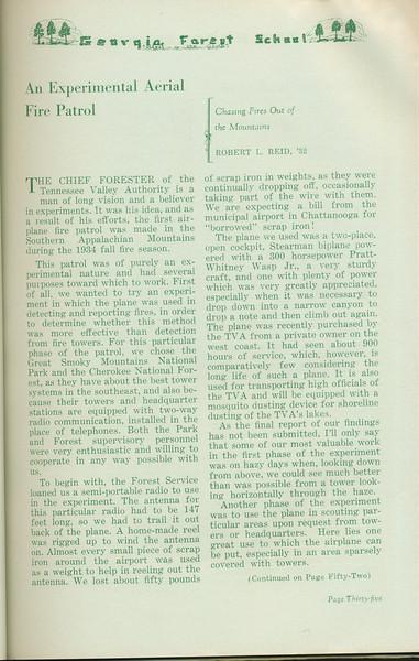 "The Cypress Knee, 1935, ""An Experimental Aerial Fire Patrol"", Robert L. Reid, pg. 35"