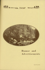 The Cypress Knee, 1936, Introduction to Humor and Advertisements, pg. 47