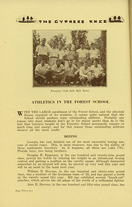 "The Cypress Knee, 1936, ""Athletics in the Forest School"", Boxing, pg. 32"