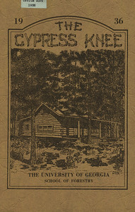 The Cypress Knee, 1936, Front Cover