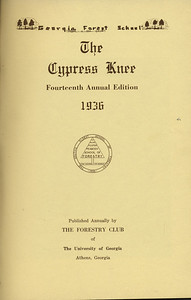 The Cypress Knee, 1936, Title Page