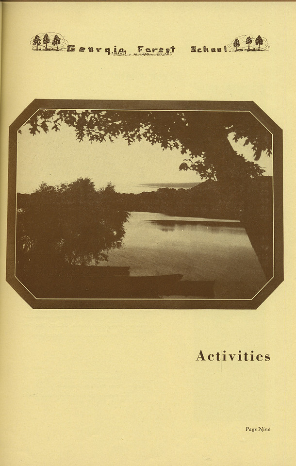 The Cypress Knee, 1936, Activities Introduction, pg. 9
