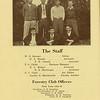 The Cypress Knee, 1936, Staff Page, Forestry Club Officers, W. O. Stewart, H. A. Braddy, T. E. Connell, T. G. Childs, E. L. Molpus, R. B. MacGregor, F. C. Clark, Gordon D. Marckworth, J. R. Gramling, T. G. Childs, J. R. Tiller, R. D. Tanksley, T. F. Langford, R. W. Minear, L. C. Hart, E. K. Major, R. B. MacGregor, L. W. Eberhardt, H. O. Stewart, C. H. Cannon Jr., H. A. Murphy, pg. 6