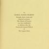 The Cypress Knee, 1936, Dedication, George Foster Peabody, pg. 5