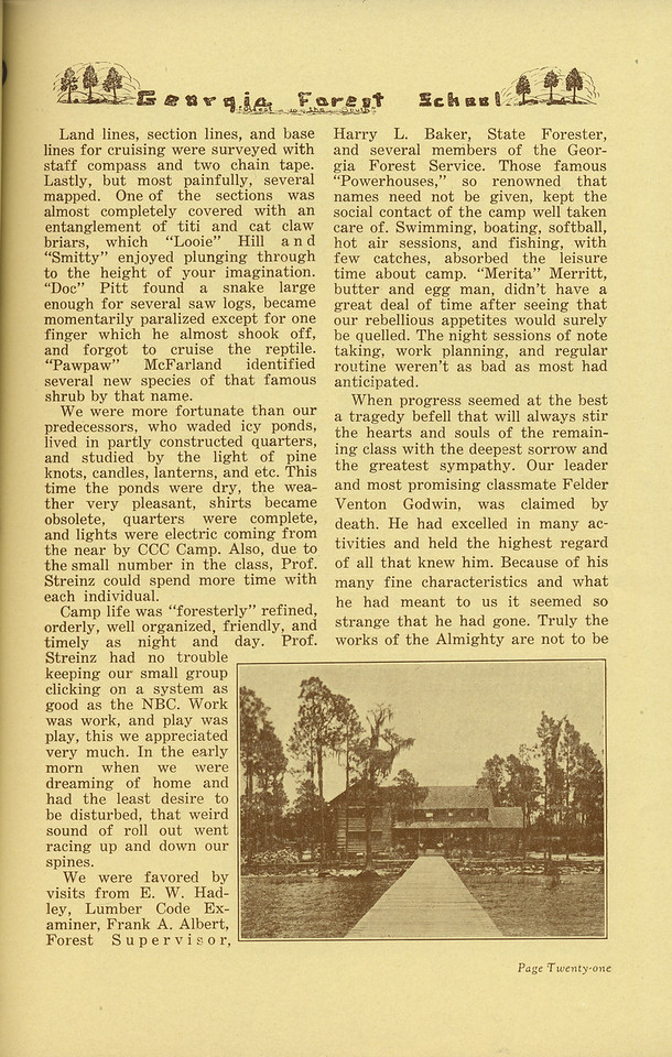 "The Cypress Knee, 1936, ""Senior Camp, 1935"" (continued), W. S. Black, pg. 21"