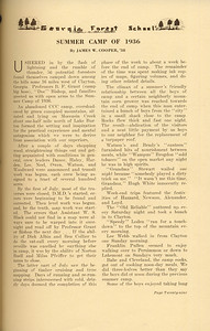 """The Cypress Knee, 1937, """"Summer Camp of 1936"""", James W. Cooper, pg. 29"""
