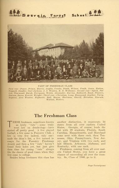 The Cypress Knee, 1937, The Freshman Class, pg. 21