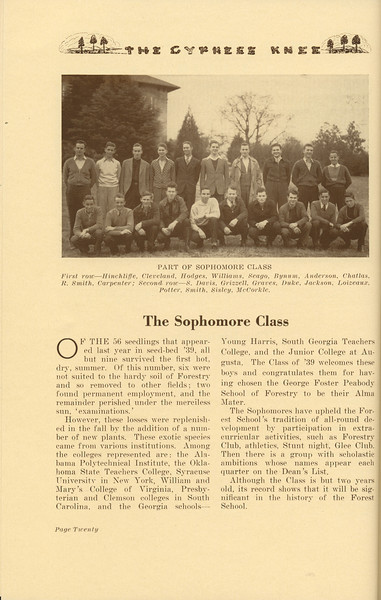 The Cypress Knee, 1937, The Sophomore Class, pg. 20