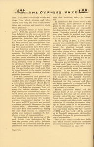 """The Cypress Knee, 1937, """"Preservation Problems in Yellowstone Park"""" (continued), Curtiss K. Skinner, pg. 50"""