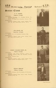The Cypress Knee, 1937, Senior Class (continued), N. P. Curtis, Jim Gillis, Leroy Collier Hart, Myron Hirsch, pg. 13