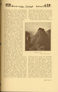 """The Cypress Knee, 1937, """"Great Smky Mountains, National Park"""" (continued), Carlos C. Campbell, """"Chimney Tops"""", pg. 45"""