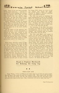 """The Cypress Knee, 1937, """"1936 Senior Forestry Camp"""", pg. 27"""