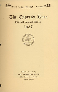 The Cypress Knee, 1937, Title Page, pg. 1