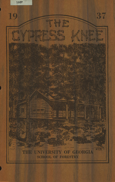 The Cypress Knee, 1937, Front Cover