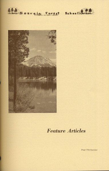 The Cypress Knee, 1937, Introduction to Feature Articles, pg. 39
