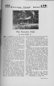 The Cypress Kneem 1938, The Forestry Club, Lee Webb, pg. 31