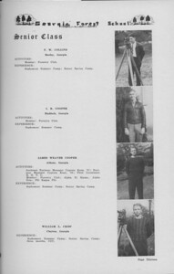 The Cypress Knee, 1938, Senior Class (continued), F. W. COllins, L. B. Cooper, James Weaver Cooper, William L. Crisp, pg. 13