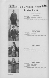 The Cypress Knee, 1938, Senior Class (continued), Wallace F. Martin, Ben C. Meadows, Sam R. Murphey, Everette Astor McKnight, pg. 18