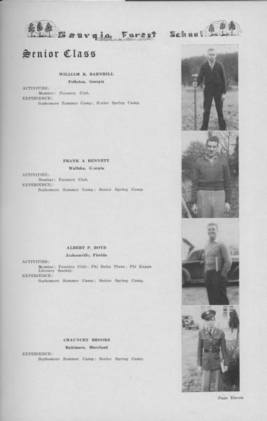 The Cypress Knee, 1938, Senior Class (continued), William R. Barnhill, Frank A. Bennett, Albert P. Boyd, Chauncey Brooks, pg. 11