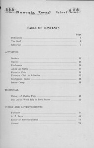 The Cypress Knee, 1938, Table of Contents, pg. 3