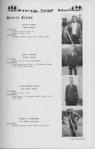 The Cypress Knee, 1938, Senior Class (continued), Hugh H. White, John A. Wilson, Ralph Newton Wood, Henry C. Woodward, pg. 23