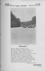 "The Cypress Knee, 1938, ""Forester"", Maude Lay Elton, Introduction to Activities, pg. 9"
