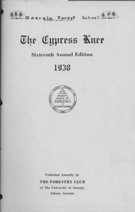 The Cypress Knee, 1938, Title Page