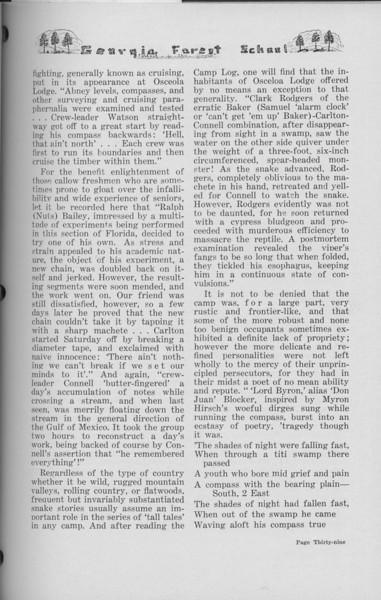 "The Cypress Knee, 1938, ""Senior Spring Camp- 1937"" (continued), pg. 39"