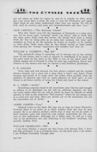 "The Cypress Knee, 1938, ""A. Z. Says"" (continued), Jack Carvell, William A. Clement, F. W. Collins, W. L. Crisp, James Cooper, William Crossland, pg. 50"