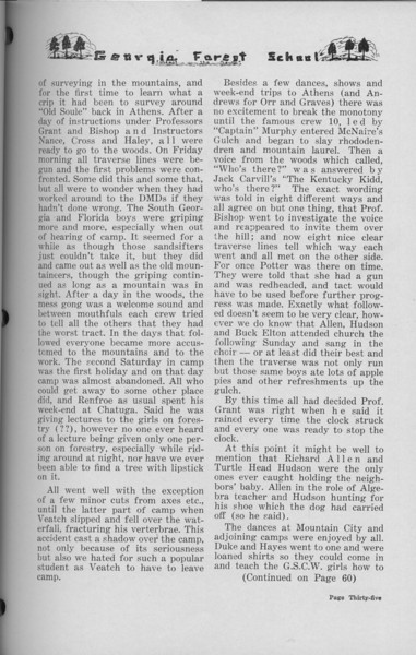 The Cypress Knee, 1938, Sophomore Summer Camp (continued), pg. 35