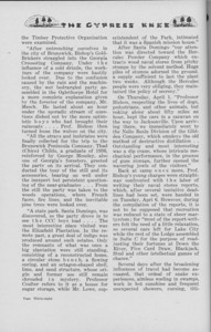 "The Cypress Knee, 1938, ""Senior Spring Camp- 1937"" (continued), pg. 36"