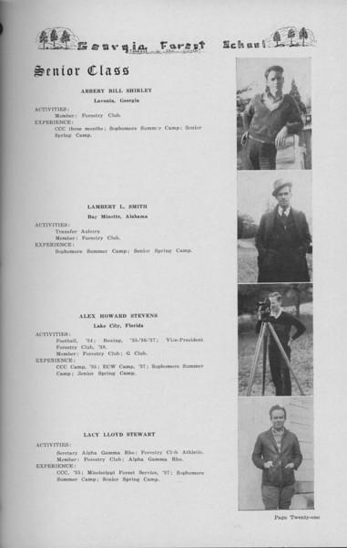 The Cypress Knee, 1938, Senior Class (continued), Lacy Lloyd Stewart, Alex Howard Stevens, Lambert L. Smith, Bill Shirley, pg. 21