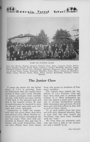 The Cypress Knee, 1938, The Junior Class, pg. 25