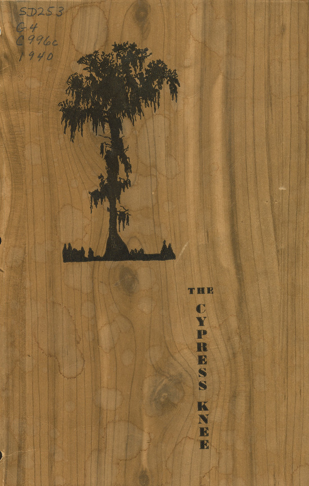 The Cypress knee, 1940, Front Cover