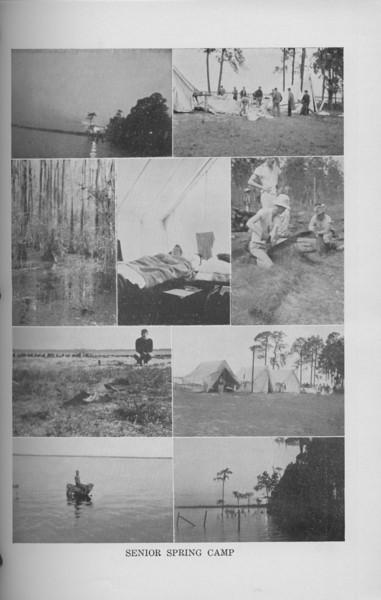 "The Cypress Knee, 1940, ""Senior Spring Camp"" collage, pg. 29"