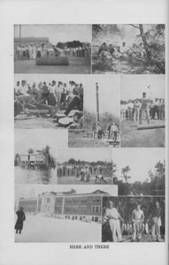 """The Cypress Knee, 1940, """"Here and There"""" collage, pg. 24"""
