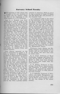 """The Cypress Knee, 1940, """"Forestry School Faculty"""", pg. 23"""