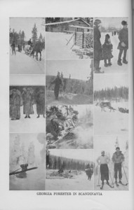 """The Cypress Knee, 1940, """"A Georgia Forester in Scandinavia"""" collage, pg. 38"""