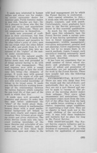 """The Cypress Knee, 1940, """"What the Forest Service Expects of Forest School Students"""", Regional Forester Evan W. Kelley, pg. 35"""