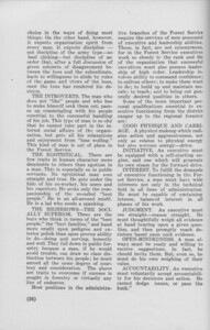 """The Cypress Knee, 1940, """"What the Forest Service Expects of Forest Schoo Students"""" (continued), Evan W. Kelley, pg. 36"""