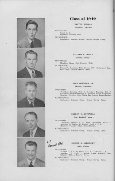 The Cypress Knee, 1940, Clinton Preble, Wiliam J. Prince, Jack Robinson, Gordon O. Rothwell, George R. Salisbury, pg. 14