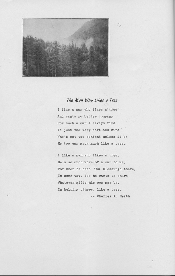 "The Cypress Knee, 1942, ""The Man who Likes a Tree"", Charles A. Heath, pg. C"