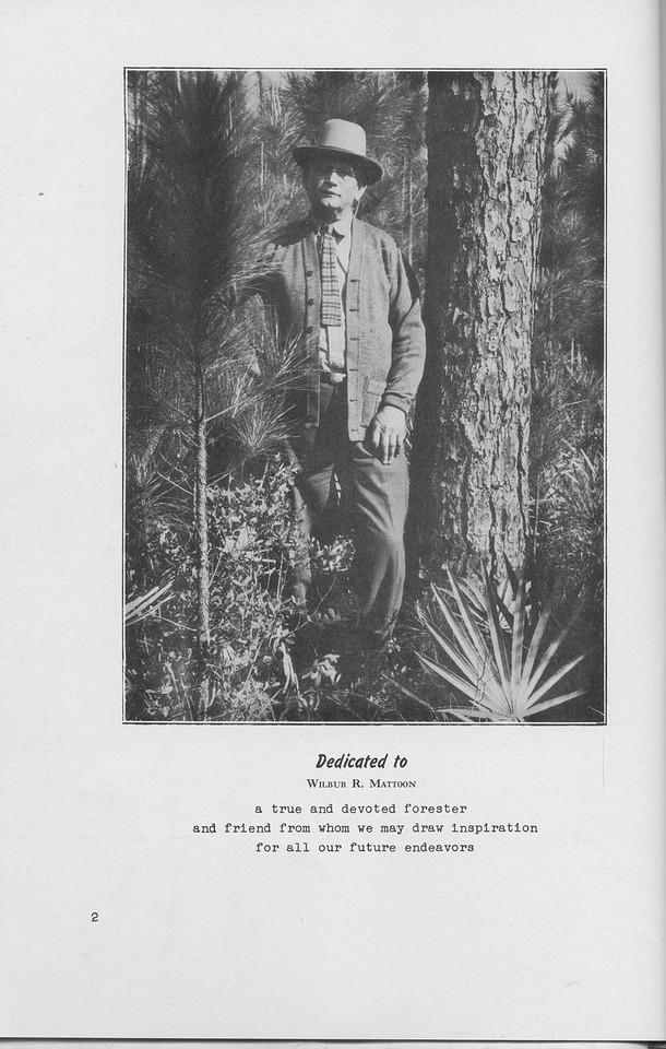 The Cypress Knee, 1942, Dedication, Wilbur R. Mattoon